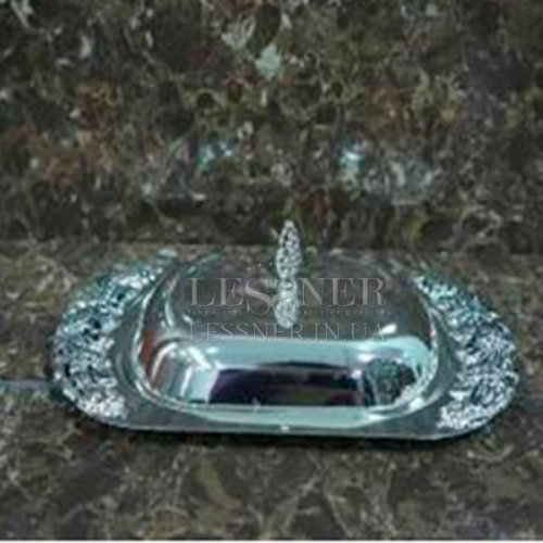 Масленка Lessner.Silver Collection 22x13x5,5см 99122